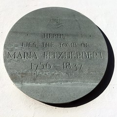 Photo of Maria Fitzherbert grey plaque
