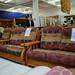 Dutch oak mixed fabric suite