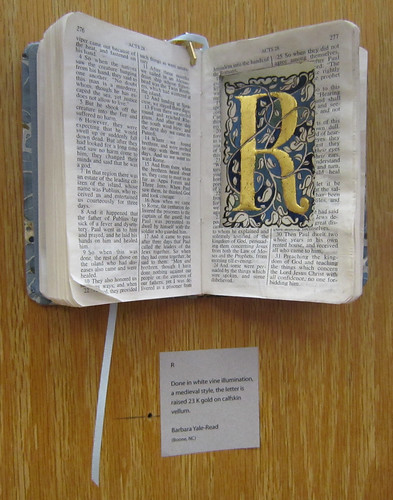 Bible Versals exhibit - Letter R