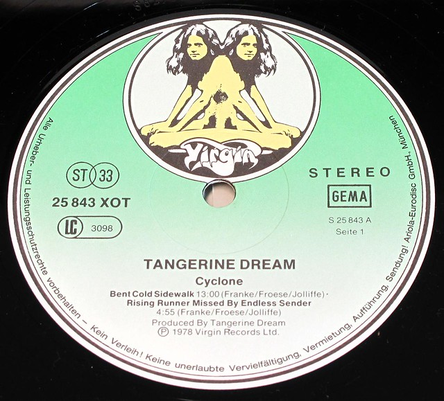 "TANGERINE DREAM CYCLONE Gatefold cover 12"" LP"