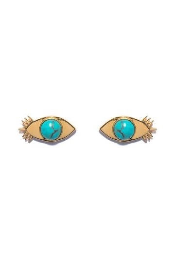 Evil Eye Turquoise Studs