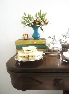sanduíches de pepino para o chá