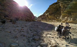 Split Mountain/Fish Creek Wash on the KLR, Anza Borrego Desert, CA. New Year's Day 2016