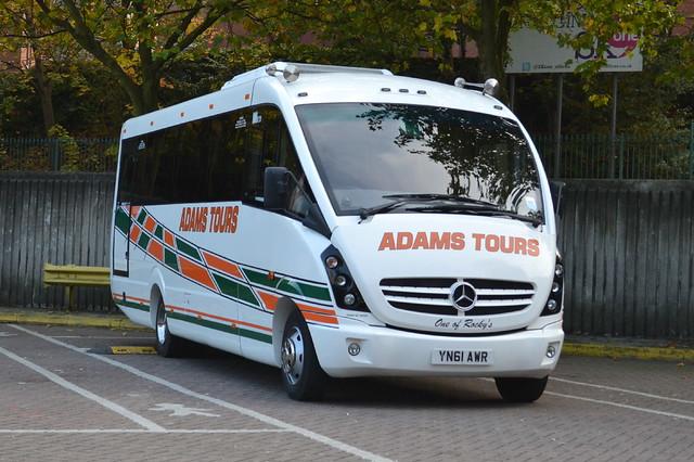 Adams Tours Mercedes YN61AWR - Stockport