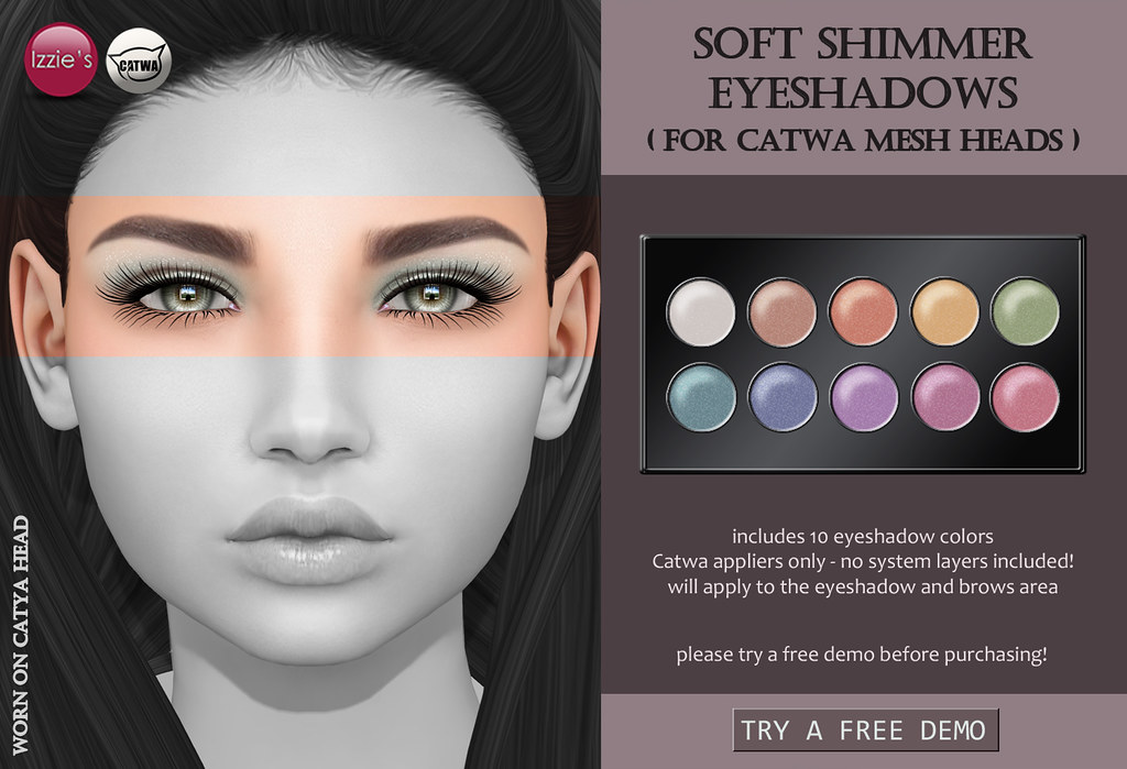 Soft Shimmer Eyeshadows CATWA (for FLF) - SecondLifeHub.com