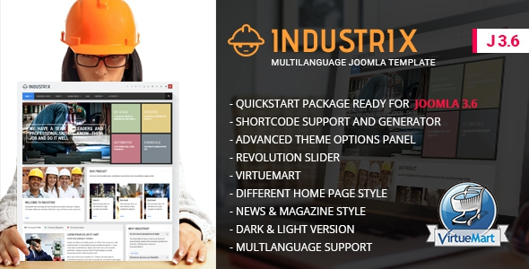 Industrix v1.3 – Joomla Responsive Business Template