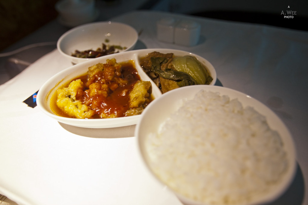 Main course with rice