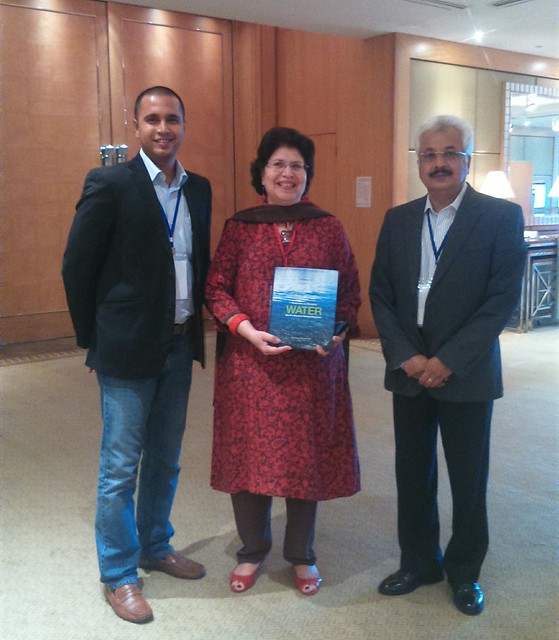 Water Book being presented to Ms. Aban Marker Kabraji, IUCN Asia Regional Director, at Bangkok Thailand.jpg