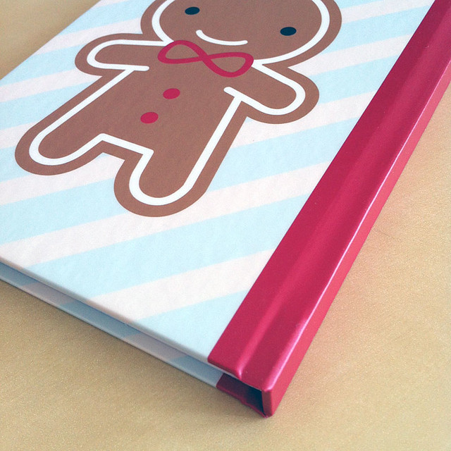 Gingerbread Man Journal from Redbubble