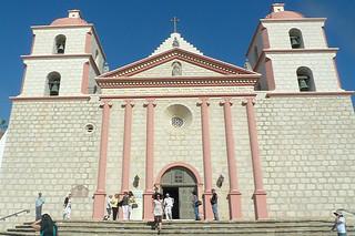 Santa Barbara - Santa Barbara Mission front door