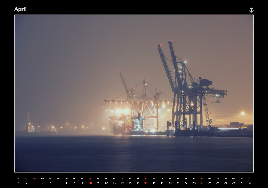 kalender2016_HAMBURG 2016 - FROM DUSK TILL DAWN - KALENDER // APRIL