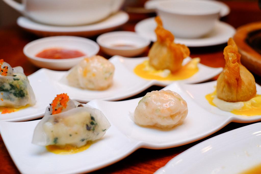 Xin Cuisine Chinese Restaurant's har gau, siew mai, xiao long bao