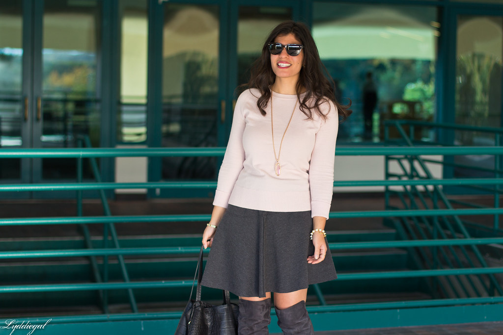 pink sweater, grey skirt, over the knee boots-5.jpg