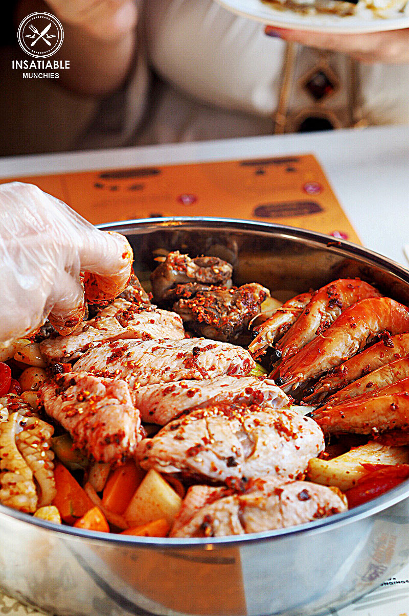 Sydney Food Blog Review of Simmer Huang, Chatswood: Assorted Meat and Seafood, $49.95