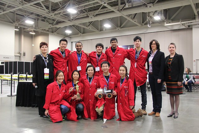 Cornell University wins first place with a score 5cm.