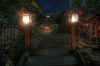Suikyo-Tenmangu Shrine or Tenjin, Fukuoka on OCT 27, 2015 (2)