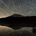 Mount Rainier Star Trails Reflection by Jeffrey Sullivan