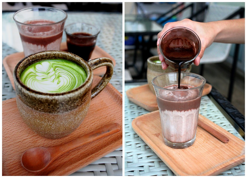 Five By Five's Japanese Matcha Latte and African Red Chocolate