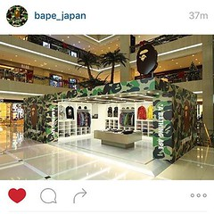 """I've never really had a """"dream"""" per say. But my OFFICIAL """"dream"""" is to own a pop-up shop like this @bape_japan one!!! :crown::panda_face::registered::tm: #SwagOnaMillion #BusinessGoals #DoItBig #streetwear #streetstyle #fashion #lovewhatyoudo #swag #dmv #"""