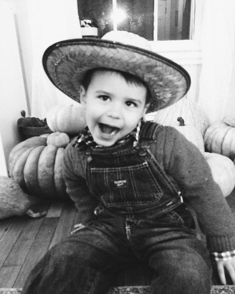 Farmer boy. #instaluther #happyhalloween #halloween2015 #costume #children #childhood #farmer