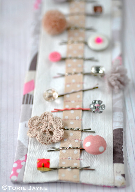 DIY bobby pin holder