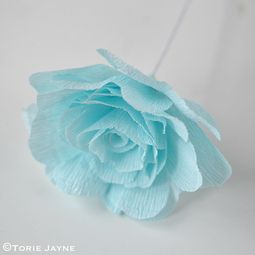 Crepe Paper Rose Tutorial 11