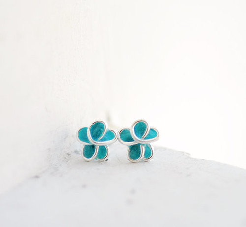 Forget Me Not Paper Earrings