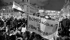 Parliament Square sit-in against Syria airstrikes.