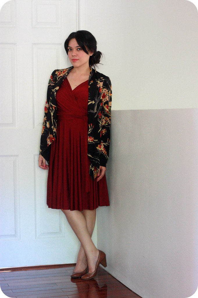 Swap & Style with Henkaa: Red Iris Convertible Wrap Dress with The Demure Muse and Sweets and Hearts