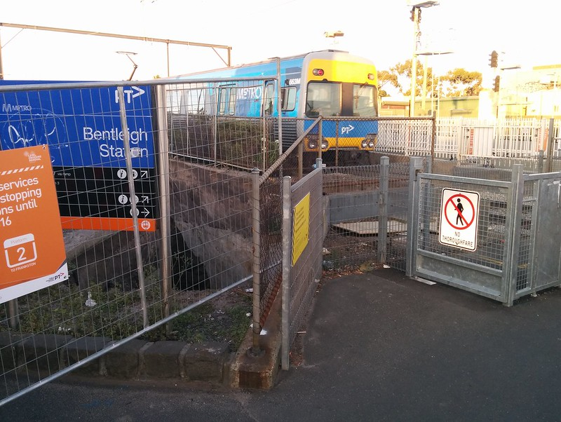 Bentleigh station: old underpass uncovered