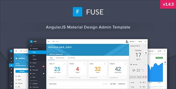 Fuse v1.4.3 - AngularJS Material Design Admin Template