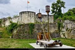 DUN-SUR-MEUSE | Porte de Milly. Dun fut une place forte importante, dont une partie des remparts subsiste encore. La Porte défensive de Milly permettait l'accès des chevaux et des chariots à la ville haute. Archères, meurtrières et bretèches sont encore v - Photo of Mont-devant-Sassey