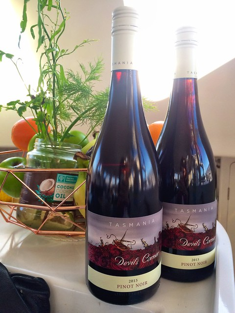 Tasmania Devil's Corner Pinot Noir - brought for us by our friends after we sailed Bass Strait.