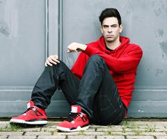 Red Jordans 5 Model, Hip-Hop Wear