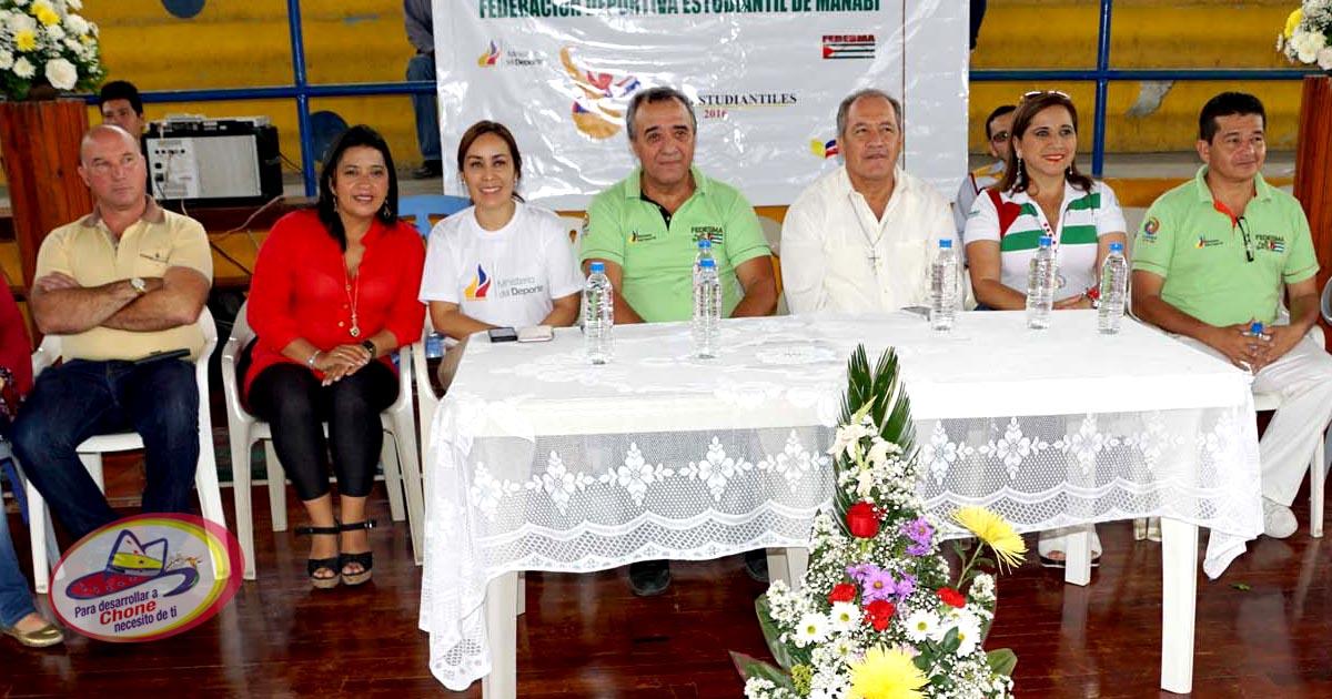 Inauguración de los V Juegos Estudiantiles Manabí 2016