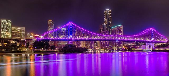 Purple Story Bridge