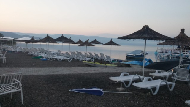 Ohrid Lake macedonia - quiet at 5am