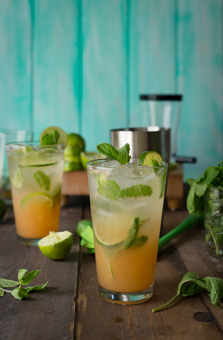 POG Mojitos (Passion-Orange-Guava) My favorite Hawaiian juice made into a refreshing tropical cocktail. www.pineappleandcoconut.com