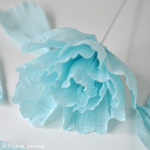 Crepe paper flower tutorial 3