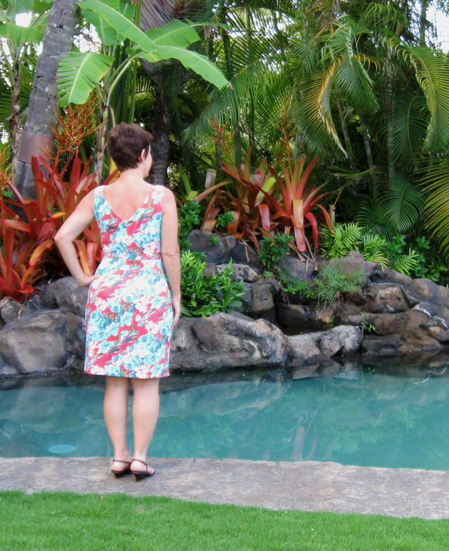 back view on me Butterick dress