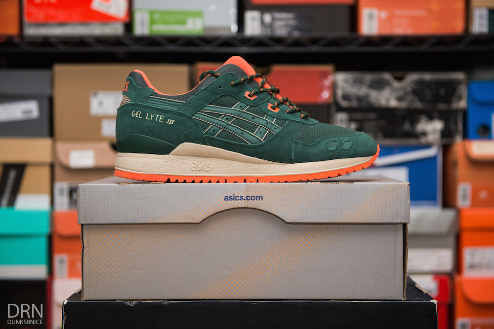 Dark Green & Orange Gel Lyte III's.