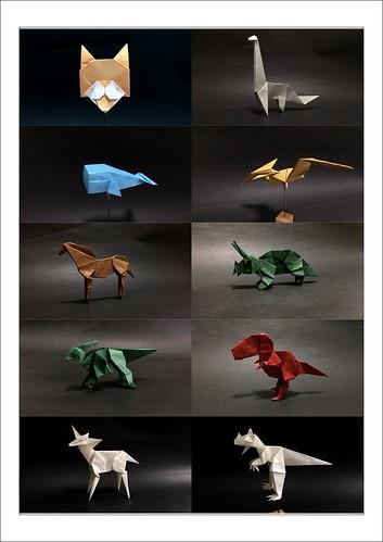 Origami works of saku 2 (photograph)