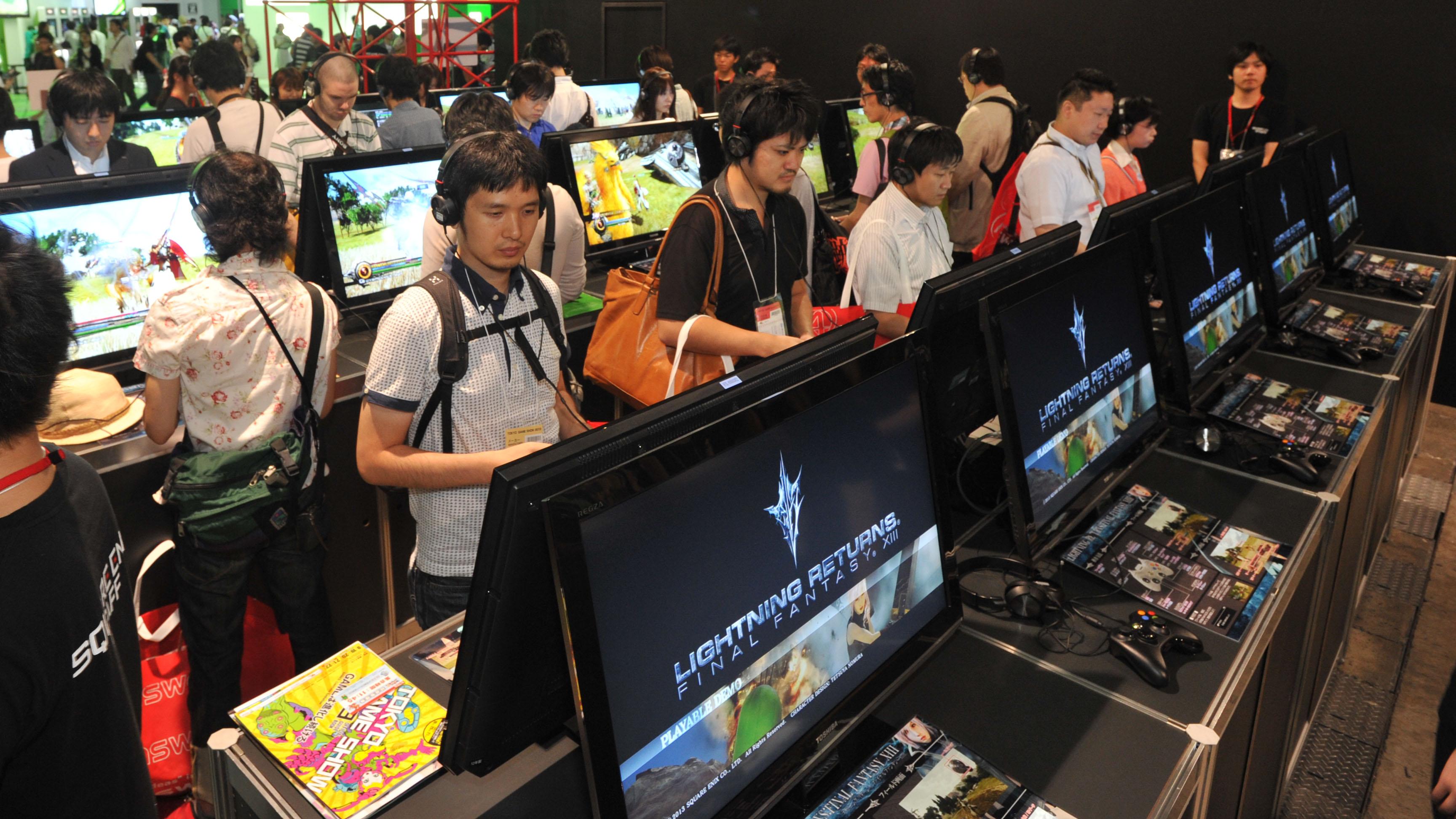 TOKYO GAME SHOW 2013., SQUARE ENIX, at Makuhari messe in Chiba prefect. on Sept. 19, 2013. YOSHIAKI MIURA PHOTO.