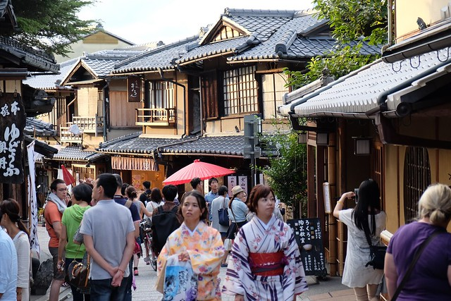 Walking through Higashiyama District