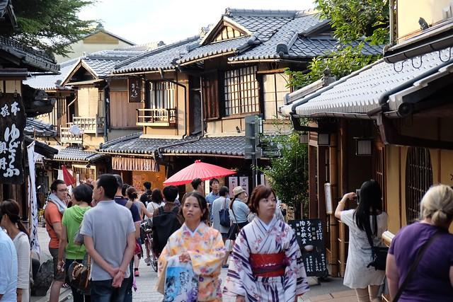 Walking through Higashiyama District