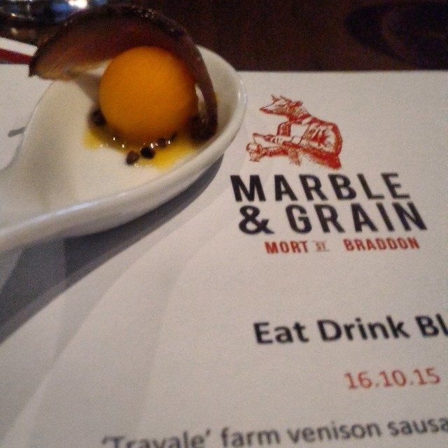 Glenfiddich food matching at Marble and grain