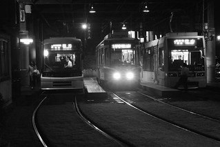 Tramcars at Kagoshima on OCT 23, 2015 (1)