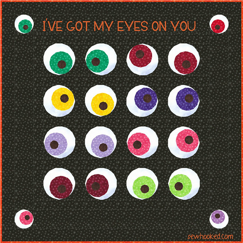 Quilt Idea from Mad Eye's Eyeball Pattern (sewhooked.com)