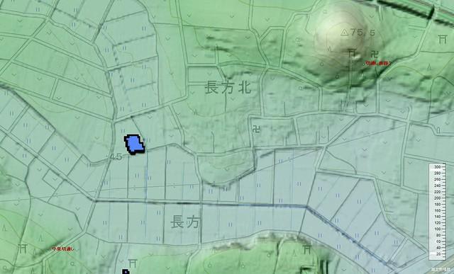 鹿島神社下の切通し痕跡?