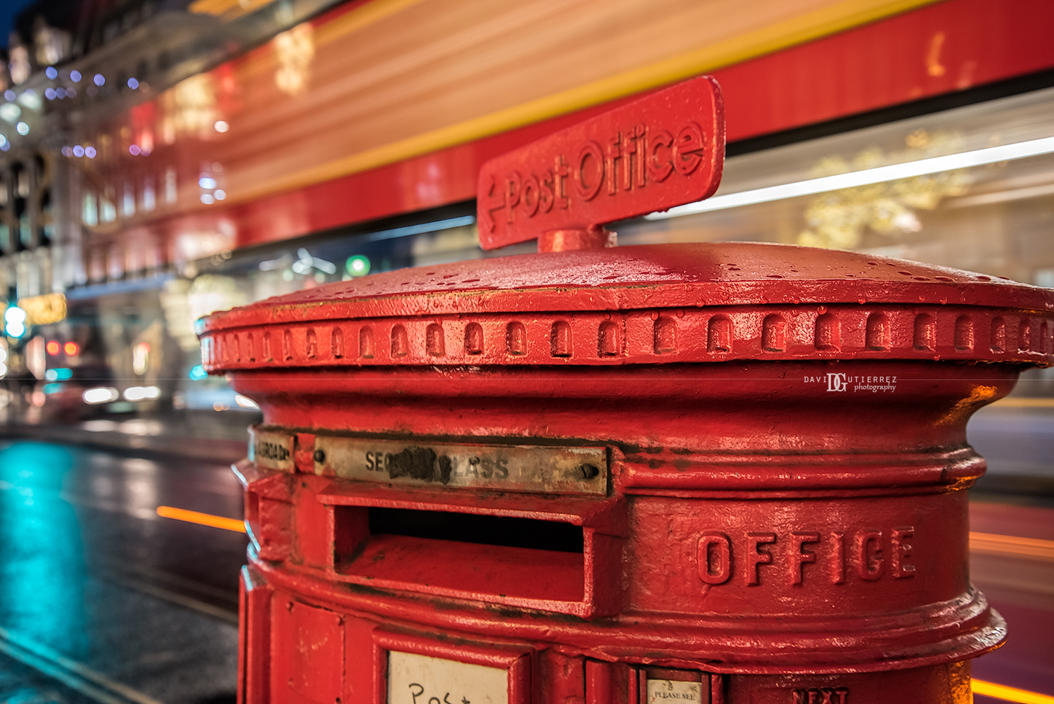 """Red Pillar Post Box"", Regent Street, London, UK by David Gutierrez Photography, London Photographer"